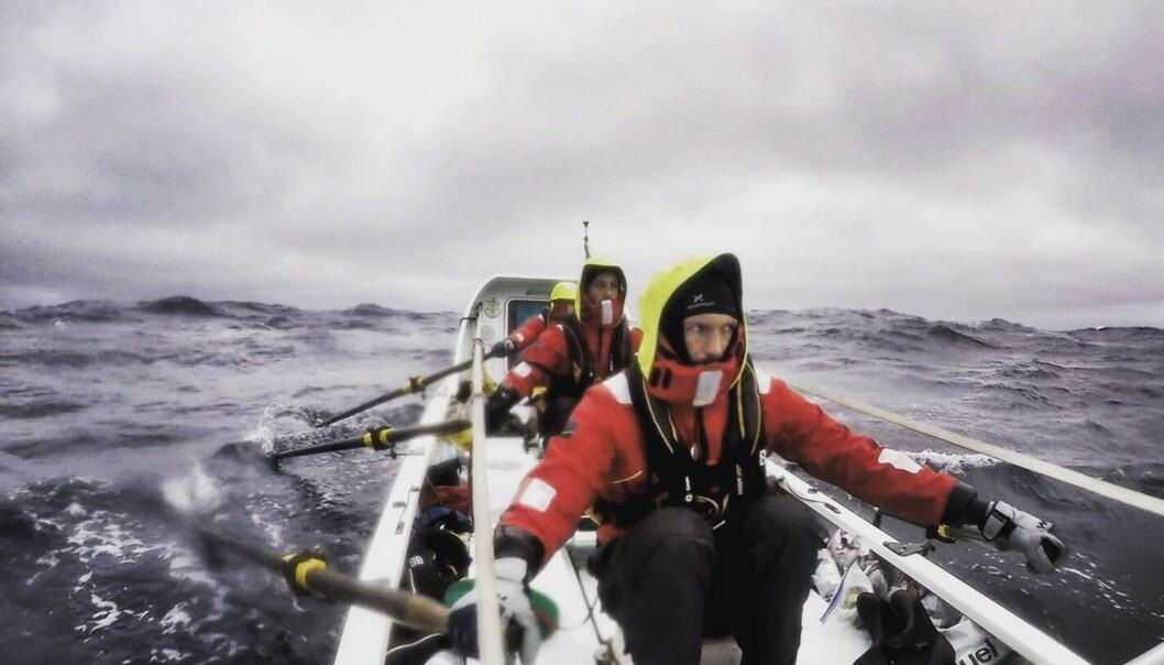 <strong>TØFFE FORHOLD:</strong> For mannskapet underveis i ekspedisjonen. Foto: The Polar Row
