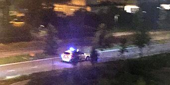 image: Pizza-restaurant ranet på Helsfyr. Politiet jakter bevæpnet gjerningsmann