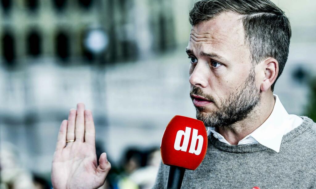 """NØDVENDIG MOTSTAND: Audun Lysbakken (SV) mener det var nødvendig så stille hardt mot hardt når Listhaug """"legitimerer ytterliggående konspirasjonsteorier"""". Foto: Thomas Rasmus Skaug / Dagbladet"""