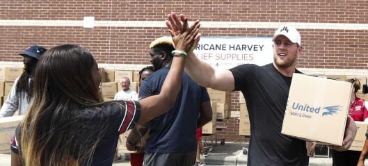 NFL-stjernen har samlet inn 145 millioner til flomofrene i Houston