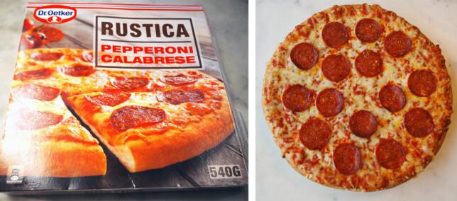 Rustica Pepperoni Calabrese koster 80,90 kroner for 540 gram, 149,81 kroner per kilo.
