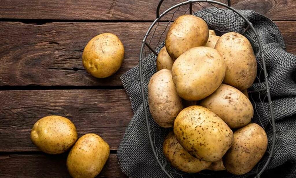 GODT Å VITE Poteter med lyst skall blir fortere grønne enn poteter med rødt skall.