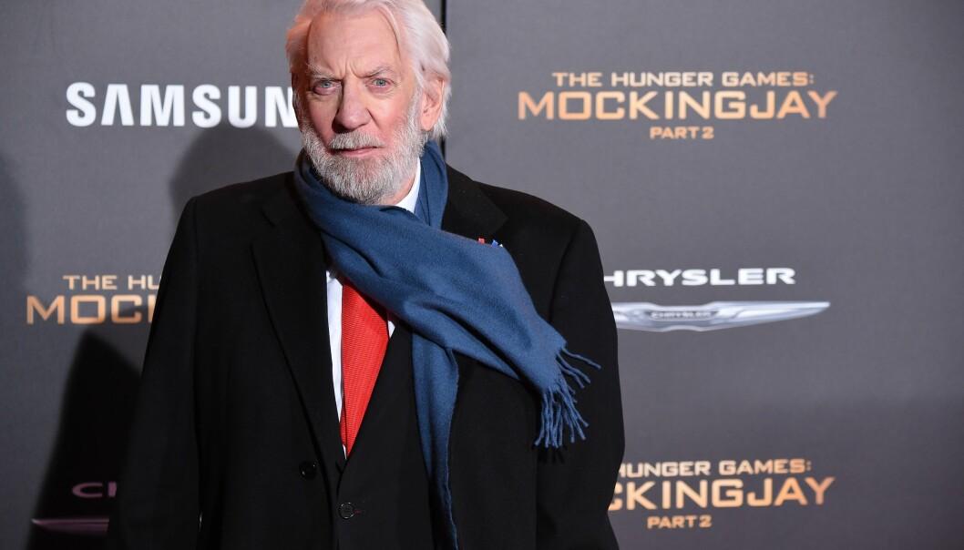 FÅR OSCAR: Hollywood-stjernen Donald Sutherland får Æres-Oscar. Foto: AFP PHOTO / ROBYN BECK