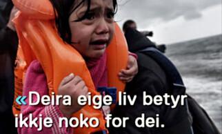 FRA VIDEOEN: Et av bildene med et av sitatene. Foto: Fra AUF Trøndelags video.