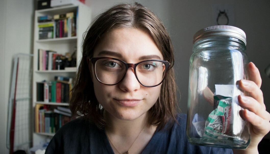 MILJØVENNLIG: Stine Friis Hals gikk inn i 2017 med mål om å bli en mer miljøvennlig og etisk forbruker. FOTO: Privat