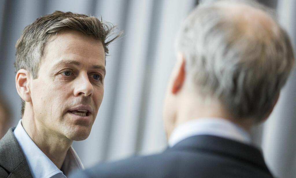 SLUTT PÅ ROMANSEN: Hareide sier han ikke vil ha Støre som statsminister. Støre sier KrF nå er på lag med Frp. Foto: Håkon Mosvold Larsen / NTB scanpix