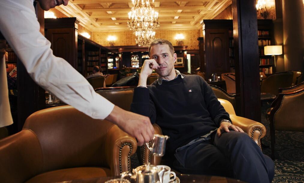 <strong>BORGERLIG:</strong> Matias Faldbakkens nye roman handler om en ærverdig, men sliten, restaurant. Her fra Bristol i Oslo. Foto: Frank Karlsen.