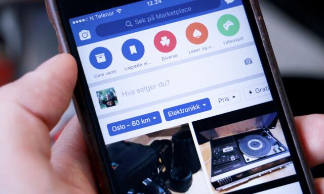 39e83f55 NY FUNKSJON: Facebook Marketplace gjør det mulig å selge og kjøpe ting via  SoMe-