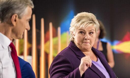 image: Solberg avviser MDG-samarbeid. Rasmus Hansson tror hun bløffer