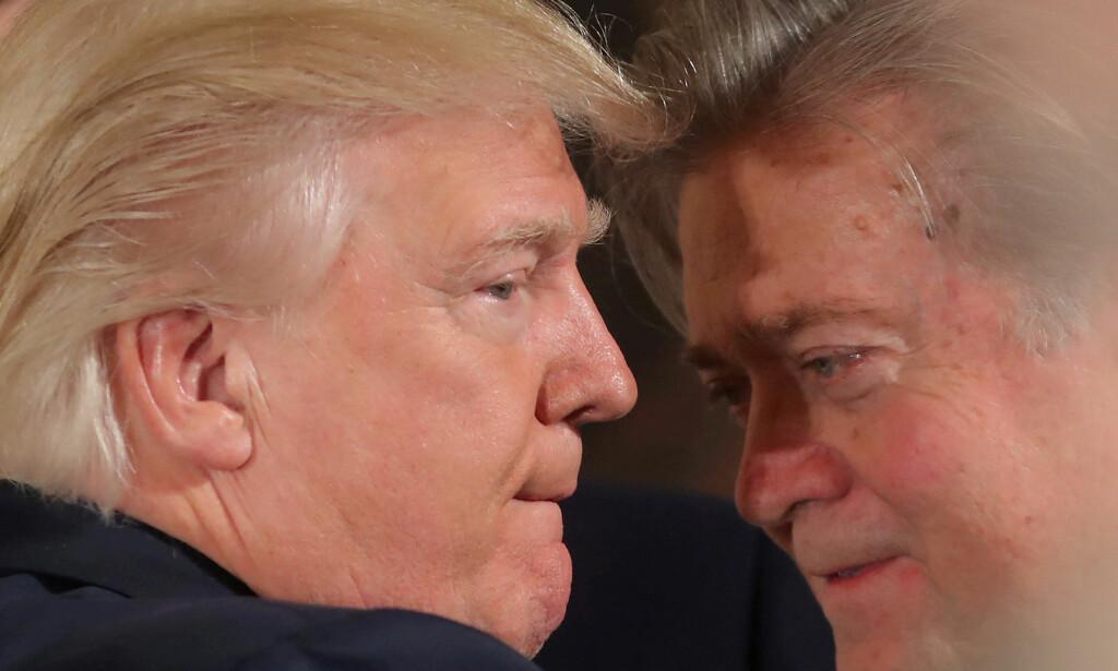 NY SLAGMARK: Etter exiten fra Trump-teamet satser Steve Bannon nå på politisk påvirkning i Europa. FOto: REUTERS/Carlos Barria/