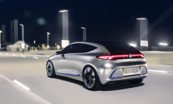 <strong>NESTE A:</strong> Som produksjonsmodell er det mulig denne vil komme på markedet etter EQC, basert på Generation EQ som ble vist i fjor. Foto: Daimler