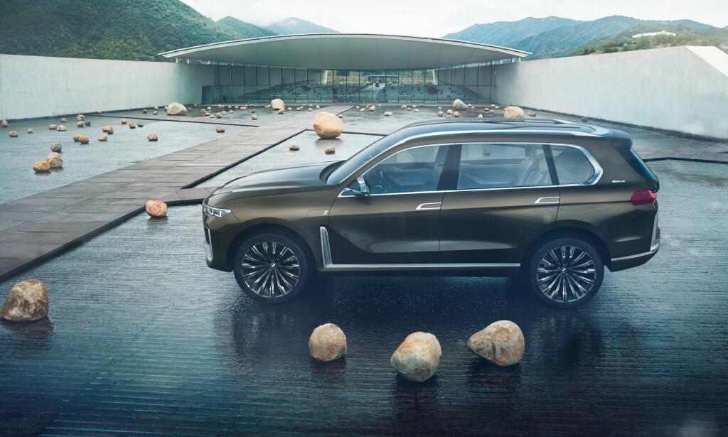 FLAGGSKIPET: Her er konseptversjonen av BMW X7. Foto: BMW