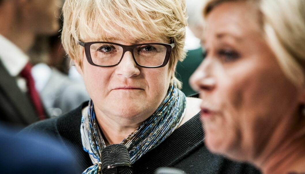 <strong>SKAL, SKAL IKKE:</strong> Venstre-ledelsen avviser ikke å gå i regjering med Frp, men flere fylkesledere i partiet er svært uenig. Foto: Christian Roth Christensen / Dagbladet