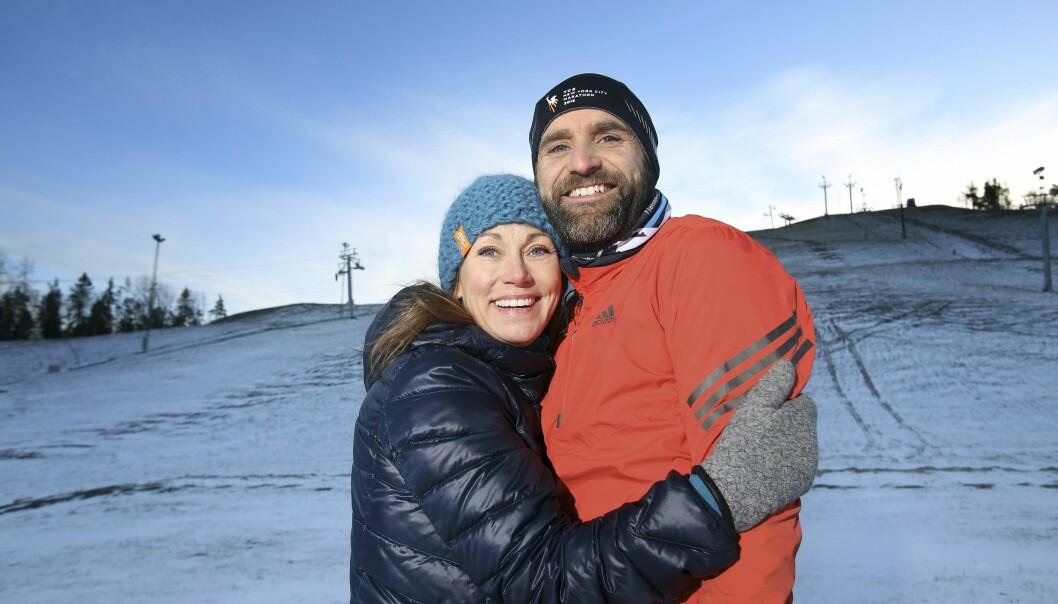 MS: Malin Schultz og mannen Johan gikk sammen til toppen av Kilimanjaro. FOTO: Stefan Nilsson