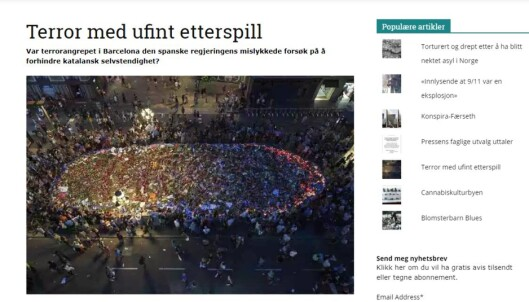 <strong>SAKEN:</strong> Ny Tid publiserte denne saken om terroren i Barcelona.