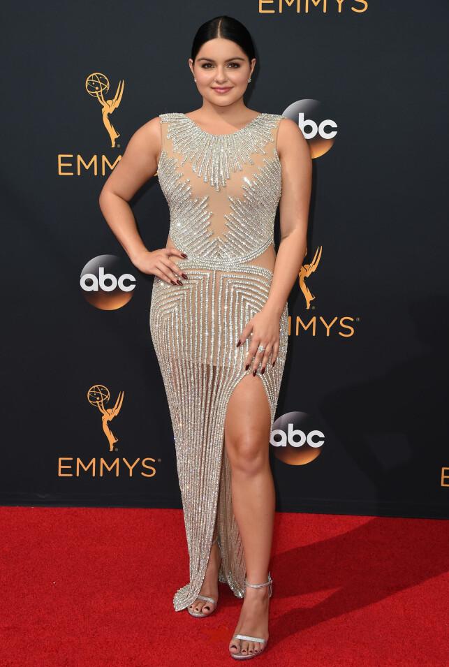HERMEGÅS?: Bare et par dager før Ariel Winter brukte denne kjolen i 2016, hadde Kylie Jenner brukt den på et event i New York. Foto: NTB Scanpix