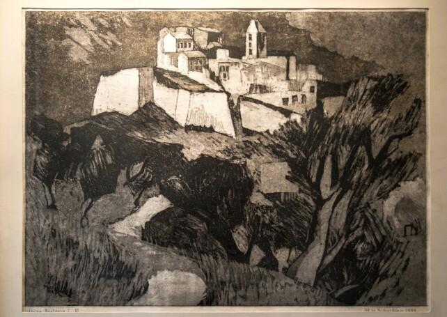SAVNET: Grafikk av Hroar Herman Scheibler er også blant kunsten som kommunen ikke finner. FOTO: Kulturetaten