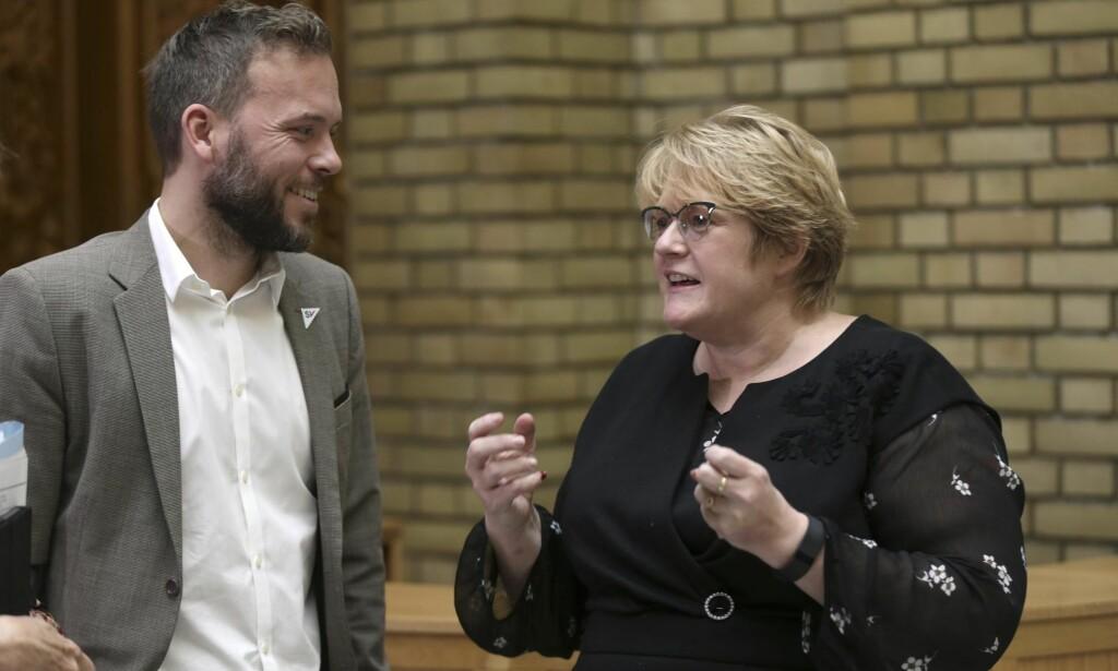 MILJØFORKJEMPERE: Audun Lysbakken og Trine Skei Grande leder hvert sitt miljøparti. Foto: Vidar Ruud / NTB scanpix