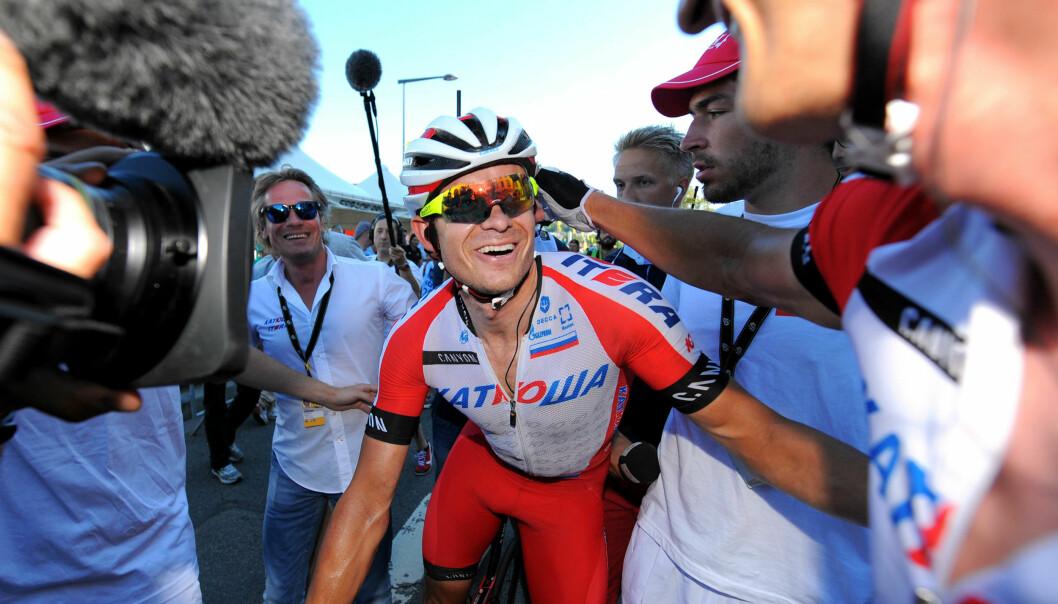"""<strong>I SENTRUM:</strong> I 2014 vant Kristoff både Milano-Sanremo og to etappeseirer under Tour de France. Livet smilte for """"Dyret fra Storhaug"""". FOTO: Tim De Waele/TDWSPORT.COM"""