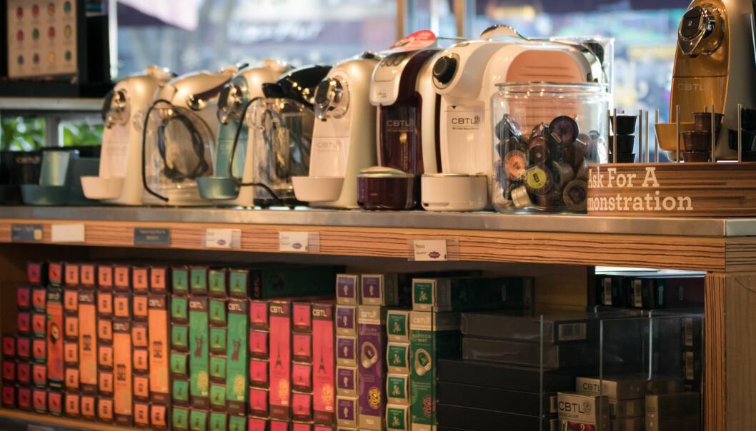 <strong>KREVENDE KAFFE:</strong> Den tradisjonelle kaffekjelen har for lengst blitt erstattet av effektkrevende maskiner, og NVE mener at disse er med på å øke nettleien for norske husholdninger. Foto: Stratman.