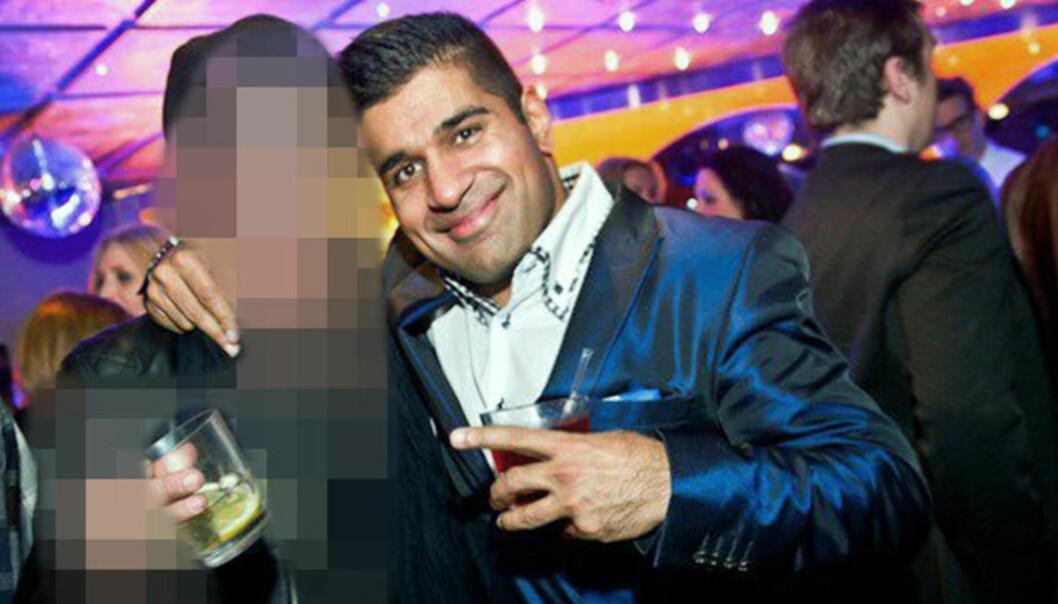 <strong>- SKULLE DREPES:</strong> Imran Saber (39) - også kalt «Onkel Skrue» - skulle ifølge påtalemakten drepes av tidligere Bandidos-leder Lars Harnes. Før retten var satt, hadde han et utbrudd rettet mot aktoratet og politiet. Foto: Finest.se