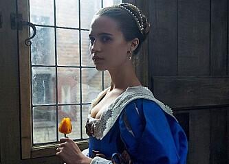 <strong>KOSTYMEDRAMA:</strong> Alicia Vikanders rolle i «Tulip Fever» er temmelig forskjellig fra Lara Croft. Foto: NTB scanpix