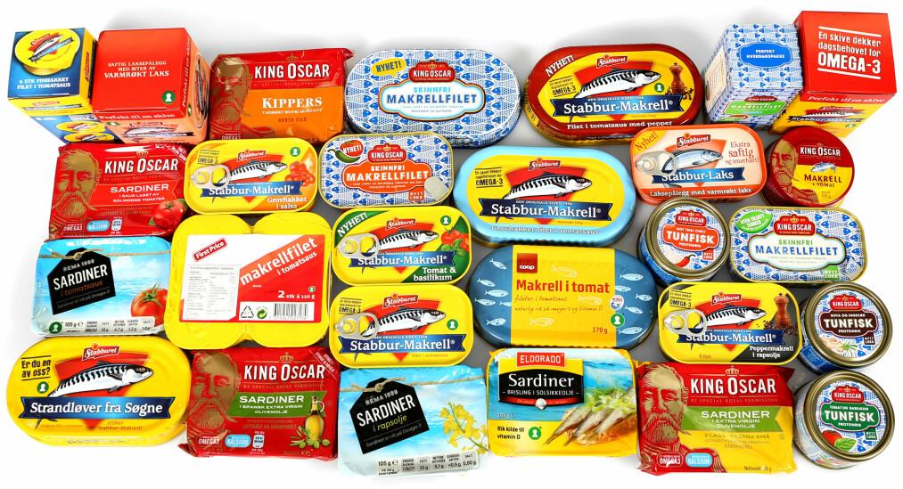 <strong>SUNT:</strong> Alle disse er sunne påleggsalternativer, men makrell i tomat og sardiner inneholder ekstra mye omega 3 viser vår test av fiskepålegg.