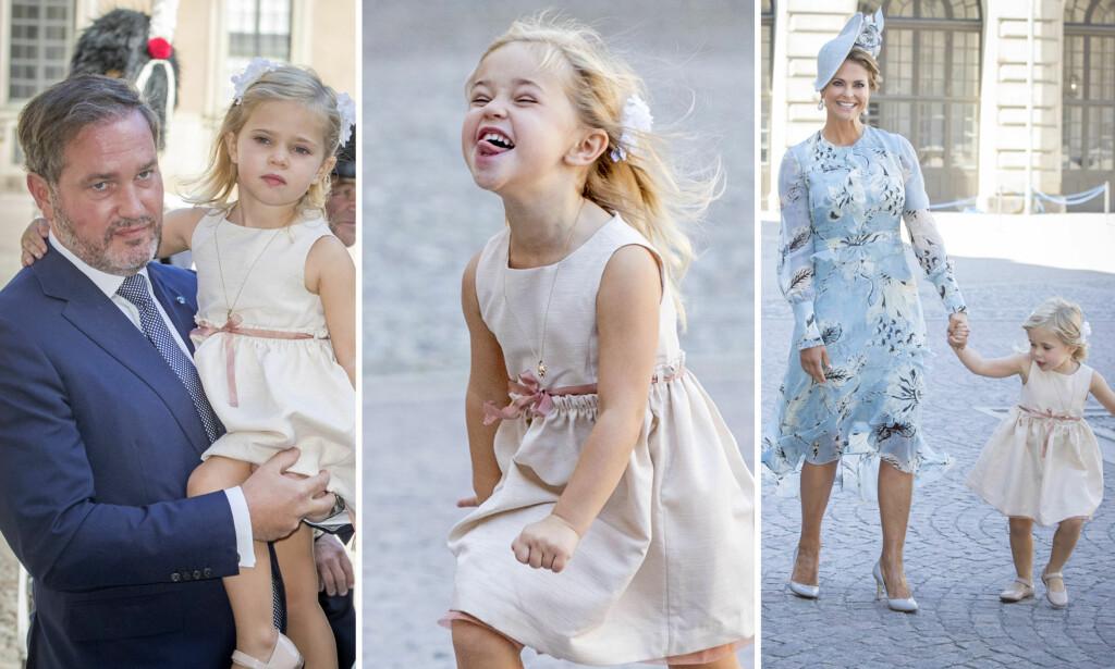 STOR JENTE: Prinsesse Leonore av Sverige er en rampejente. I sommer slo hun seg løs på slottsplassen i Stockholm, og siden den gang har hun blitt enda større. Se bildene nede i artikkelen. Foto: NTB scanpix