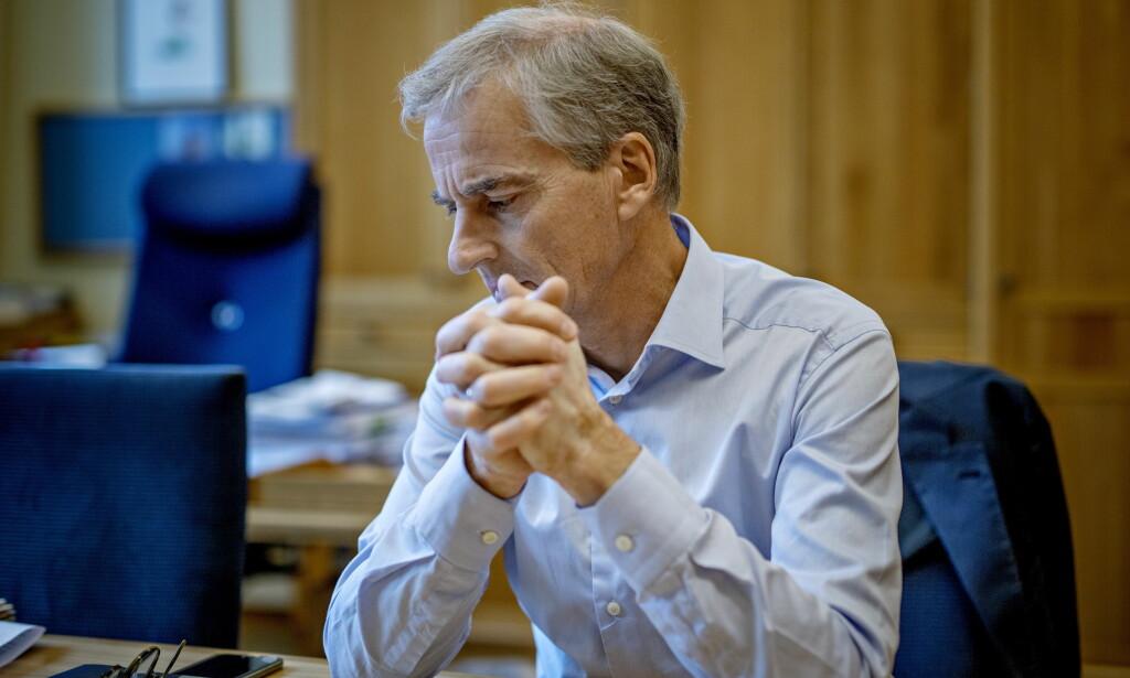 VALGTAPER: Jonas Gahr Støre på kontoret på Stortinget dagen etter valgnederlaget Foto: Jørn H Moen / Dagbladet