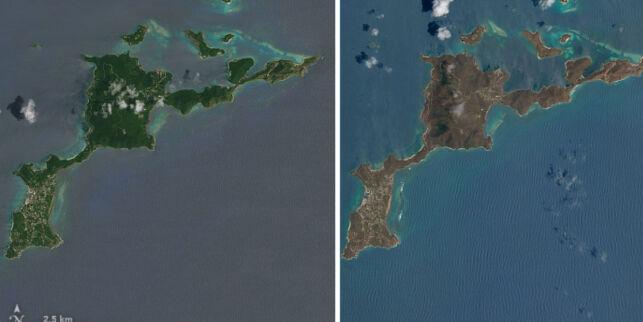 image: Se de oppsiktsvekkende satellittbildene før og etter orkanens voldsomme herjinger