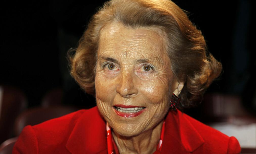 DØDE I SITT EGET HJEM: Liliane Bettencourt, som omtales som verdens rikeste kvinne, er død. Foto: REUTERS / NTB scanpix
