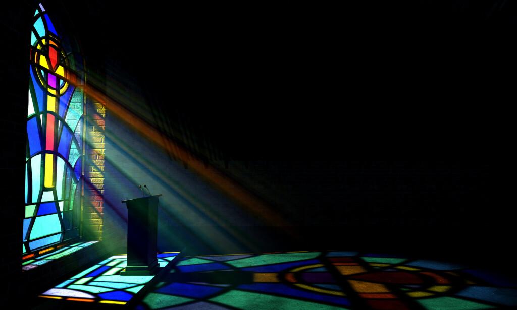 SVARER: Ole Martin Moen svarer Espen Ottosen om religion og moral. Foto: NTB scanpix