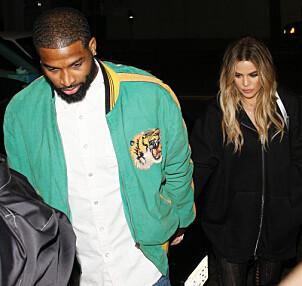 <strong>LYKKELIG PAR:</strong> Khloé Kardashian har vært sammen med Tristan Thompson siden september i fjor, og nå skal de trolig få sitt første barn sammen. Foto: NTB scanpix