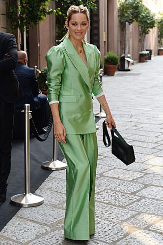 MARION COTILLARD: Den franske skuespilleren i dress fra svenske Whyred. Foto: Scanpix