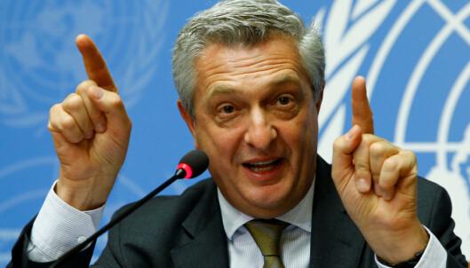 <strong>HETT NAVN:</strong> FN-sjef Filippo Grandi og UNHCR, FNs flyktningorganisasjon. Foto: Denis Balibouse / Reuters / Scanpix