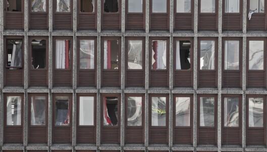 <strong>STORE ØDELEGGELSER:</strong> Regjeringskvartalet etter terrorangrepet 22. juli 2011.