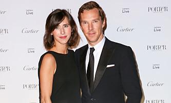 FØRST UTE: Tre måneder etter at Benedict avslørte forlovelsen, giftet han seg med sin Sophie i februar 2015. Foto: NTB Scanpix