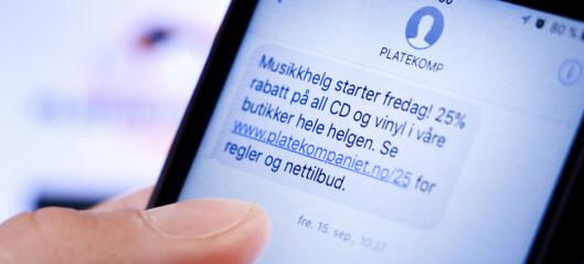 Lover å advare bedre mot SMS-reklamer