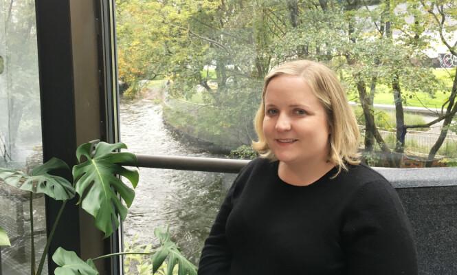 <strong>FORMIDLET HISTORIEN:</strong> KK møtte reporter Madeleine Baran, som har laget podcasten «In The Dark» for APM Reports, under Nordiske Seriedager i slutten av september. Foto: Malini Gaare Bjørnstad