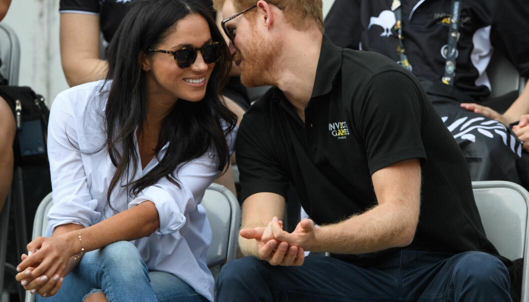 VISTE SEG SAMMEN: Prins Harry og kjæresten Meghan kom sammen til Invictus Games i Toronto tidligere denne måneden, noe som har gitt forlovelsesryktene nytt liv. Foto: Tim Rooke/REX/Shutterstock/ NTB scanpix