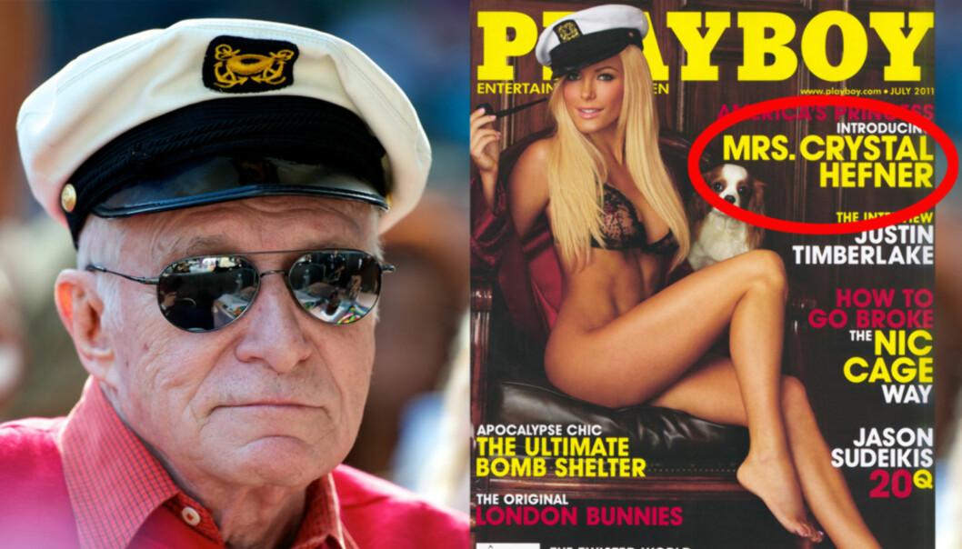 PLAYBOYMODELL: Hugh Hefners enke, Crystal Harris skal ikke bli nevnt i Playboy-kongens testament, ifølge Us Magazine. Foto: All Over Press/Playboy
