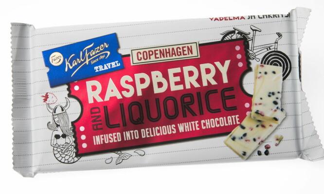 NYE SMAKER: Hvit sjokolade med lakris og bringebær er en søt trend mange forbinder med København.   Foto: Jørn Moen / Dagbladet