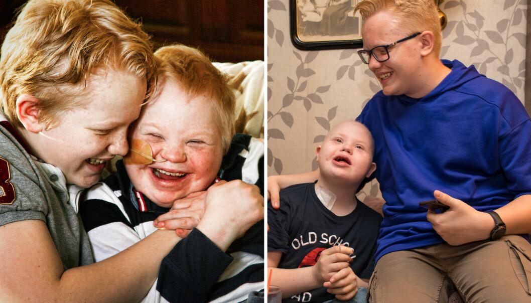 <strong>VISER OMSORG:</strong> Markus er storebror og bestevenn til kreftsyke Martin som også har Downs syndrom. Du kan bli bedre kjent med de to i TV 2-serien «Søsken». Foto: Svend Aage Madsen, Se og Hør