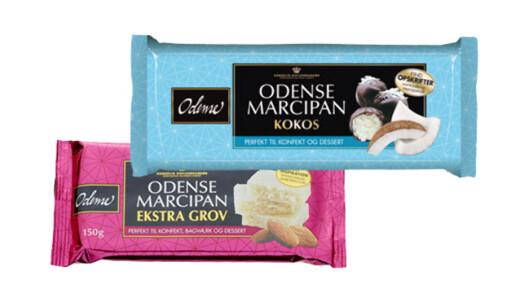 MARSIPAN: Odense lanserer to nye marsipan-varianter; én grovere og en med kokos.