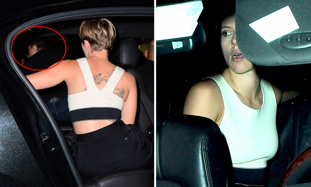 FORELSKET: Scarlett Johansson kunne feire at hun var formelt skilt, da hun i helgen dro på byen med sin nye kjæreste Colin Jost. Foto: NTB Scanpix