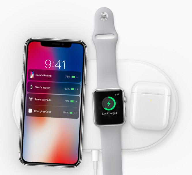 <strong>NESTE ÅR:</strong> Apple kommer med en trådløs ladeplate neste år som kan lade inntil tre enheter samtidig. Foto: Apple