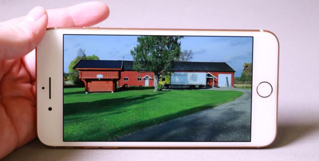 NATURTRO: Skjermen på iPhone 8 Plus er ikke den mest høytoppløslige og har heller ikke HDR-støtte, men gir deg en naturtro fremstilling av bilder. Foto: Pål Joakim Pollen