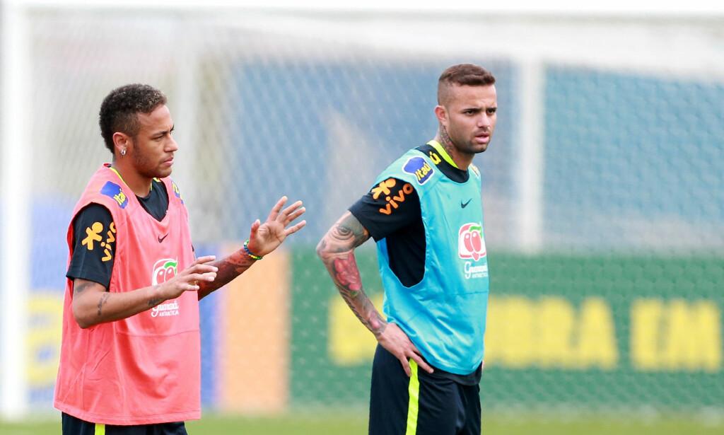 STORTALENT: Her er Luan (t.h.) med Neymar. Foto: REUTERS/Edison Vara/NTB Scanpix