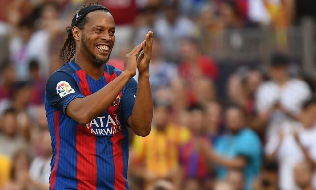 STOR SPILLEGLEDE: Ronaldinho har alltid smilet på lur. Foto: Bagu Blanco/REX/Shutterstock/NTB Scanåix