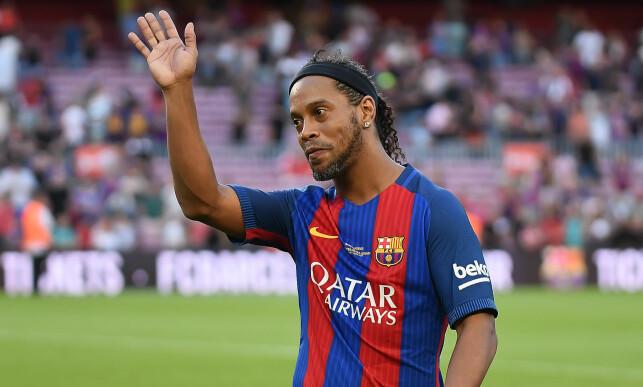 TOK FARVEL: Ronaldinho forlot Barcelona etter seks sesonger. Foto: Bagu Blanco/REX/Shutterstock/NTB Scanpix